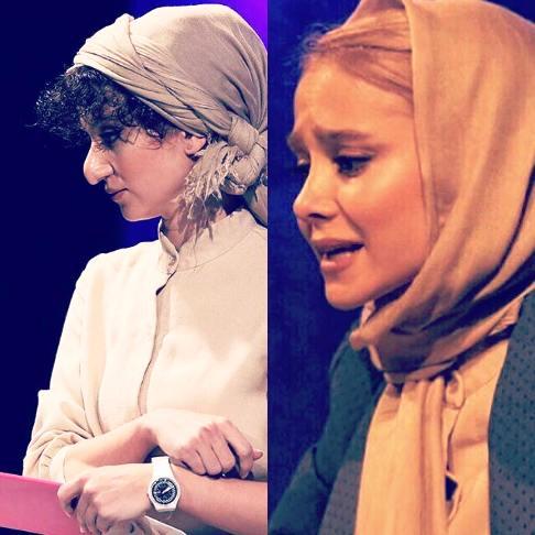 گریم دیدنی الناز حبیبی در یک تئاتر , تئاتر وتلویزیون