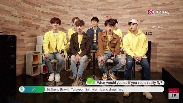 مصاحبه ی گات سون در برنامه ی pop in seoul