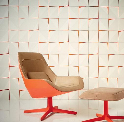 کاغذ دیواری هندسی سه بعدی