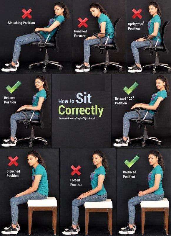 نشستن صحیح