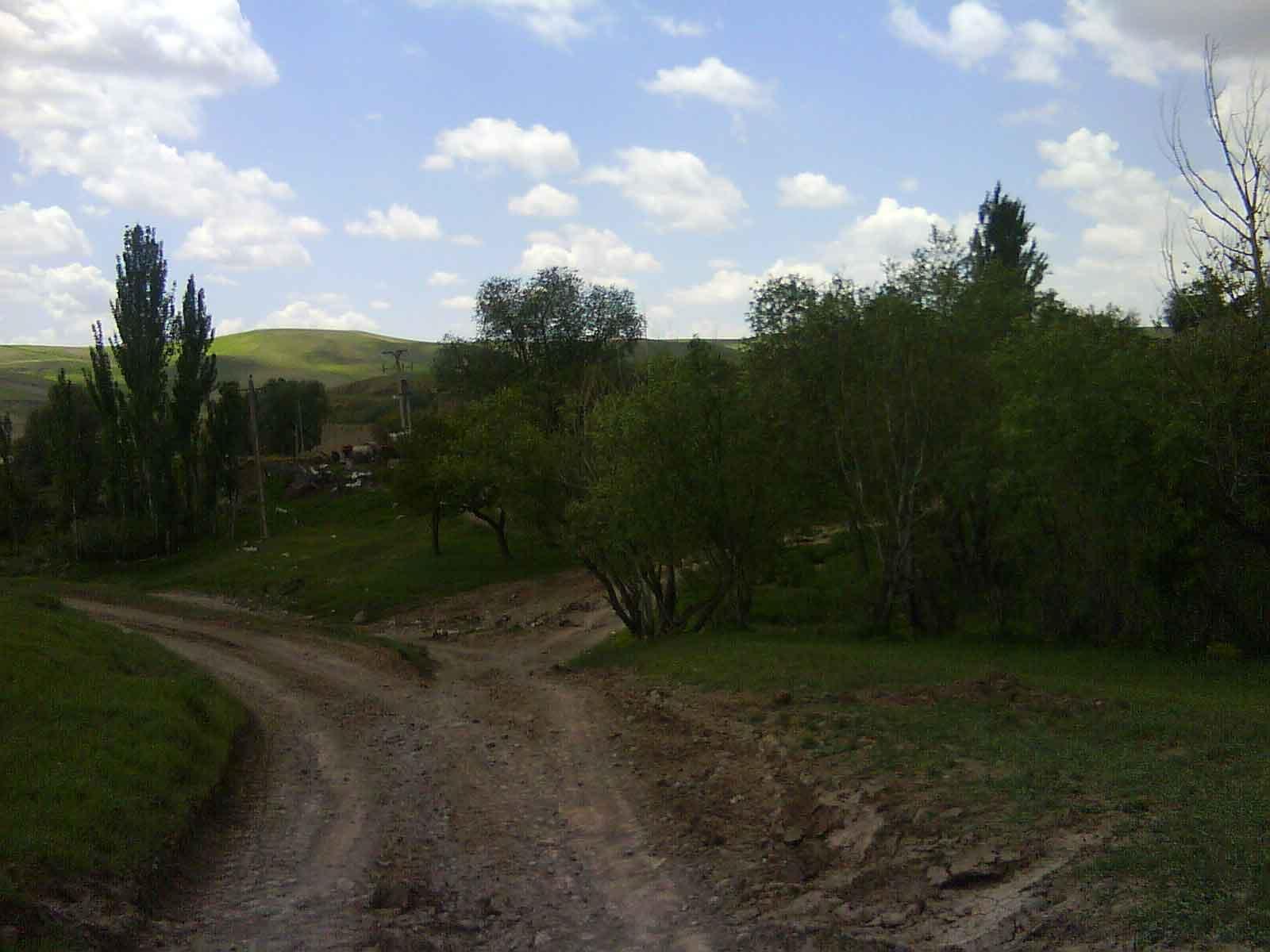 ورودی روستا از چناخبلاغ