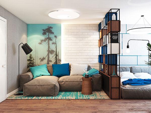 رنگ آبی در دکور خانه