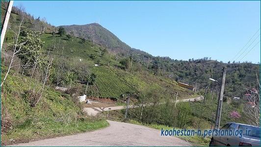 جاده روستای سرچشمه لاهیجان