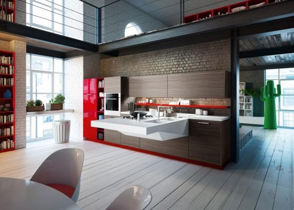 طراجی کابینت زیبا در آشپزخانه