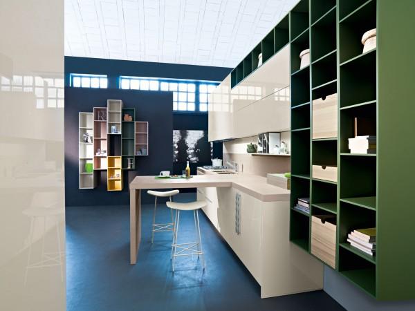 آشپزخانه سبز آبی