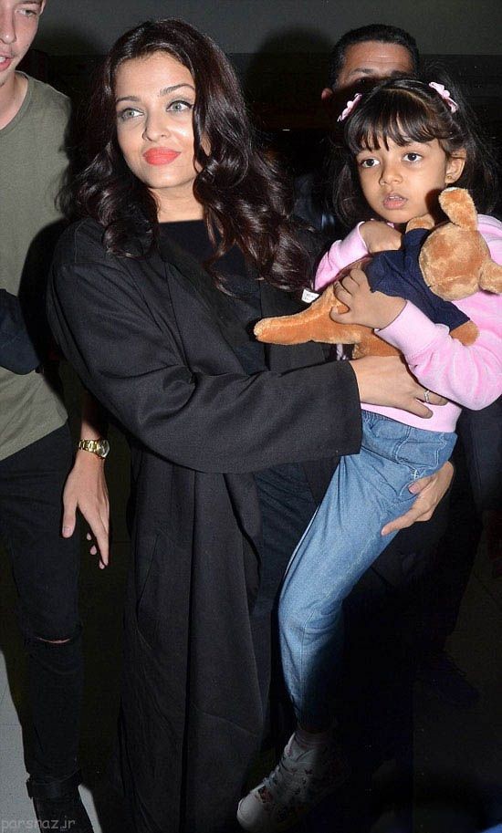 آیشواریا رای به همراه دخترش در استرالیا , عکس بازیگران خارجی