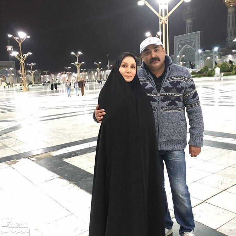 حدیث فولادوند و همسرش رامبد شکرآبی در حرم امام رضا