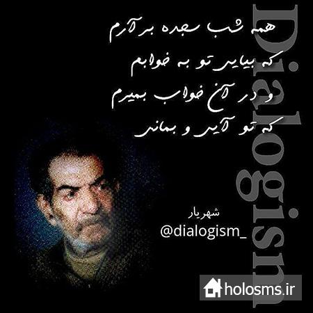 جملات شهریار - هلو اس ام اس