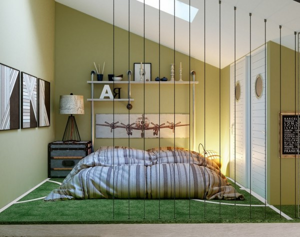 اتاق نوجوان سبز رنگ