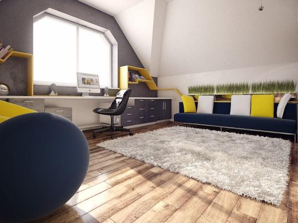 رنگ بندی زیبا اتاق کودک