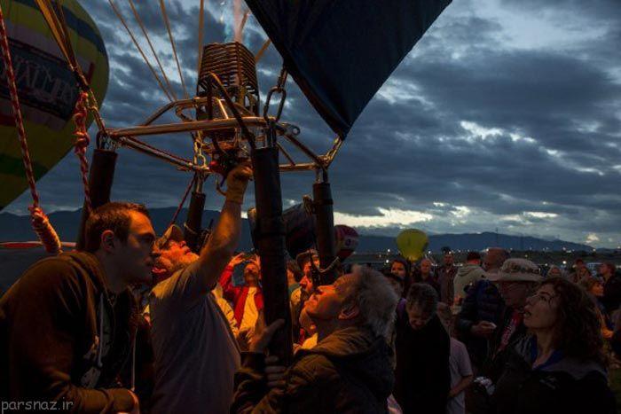 تصاویر جالب از گردهمایی صدها بالون رنگارنگ در امریکا , تصاویر دیدنی