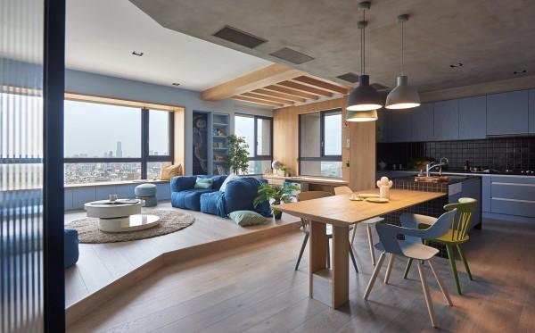 طراحی آپارتمانی رنگی