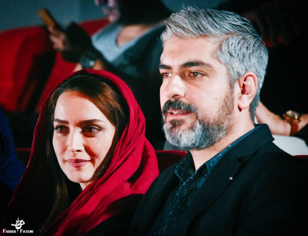 مهدی پاکدل و بهنوش طباطبایی در اکران فیلم دونده زمین