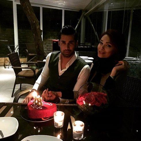 محسن فروزان دروازه بان استقلال در کنار همسرش , اخبار ورزشی