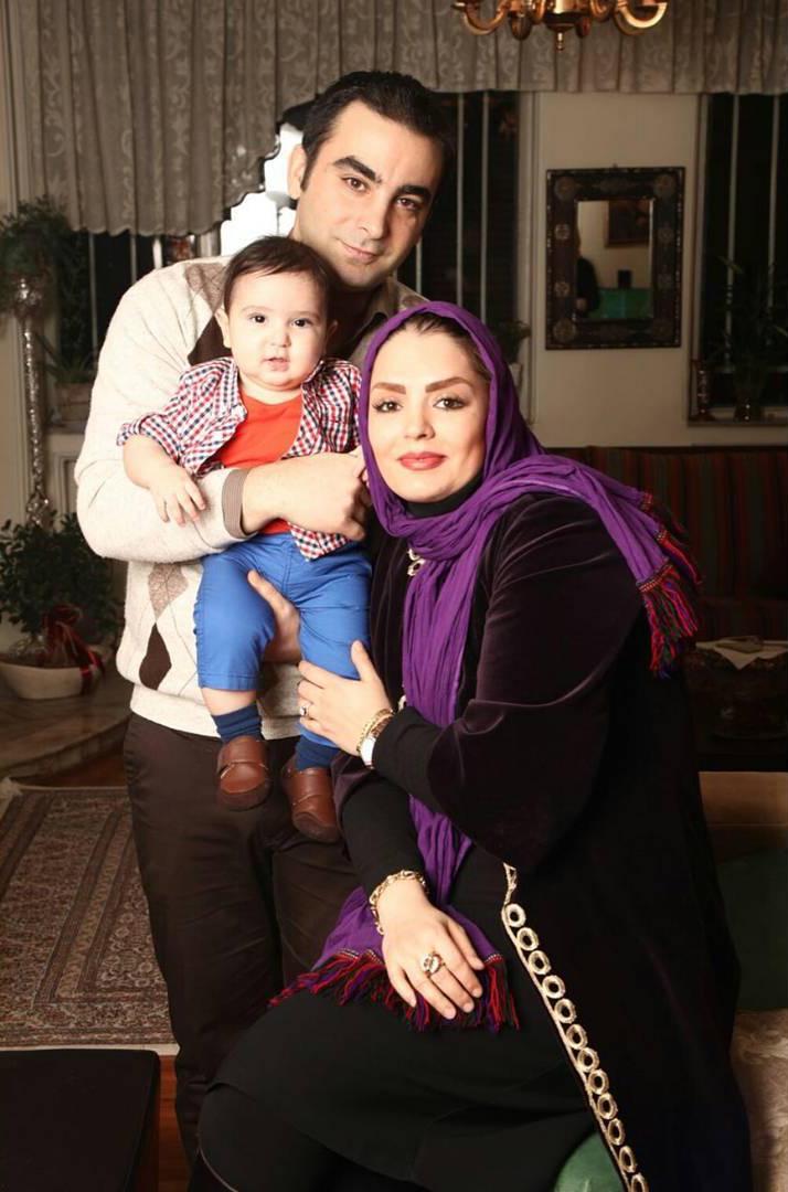 سپیده خداوردی و همسر و فرزندش