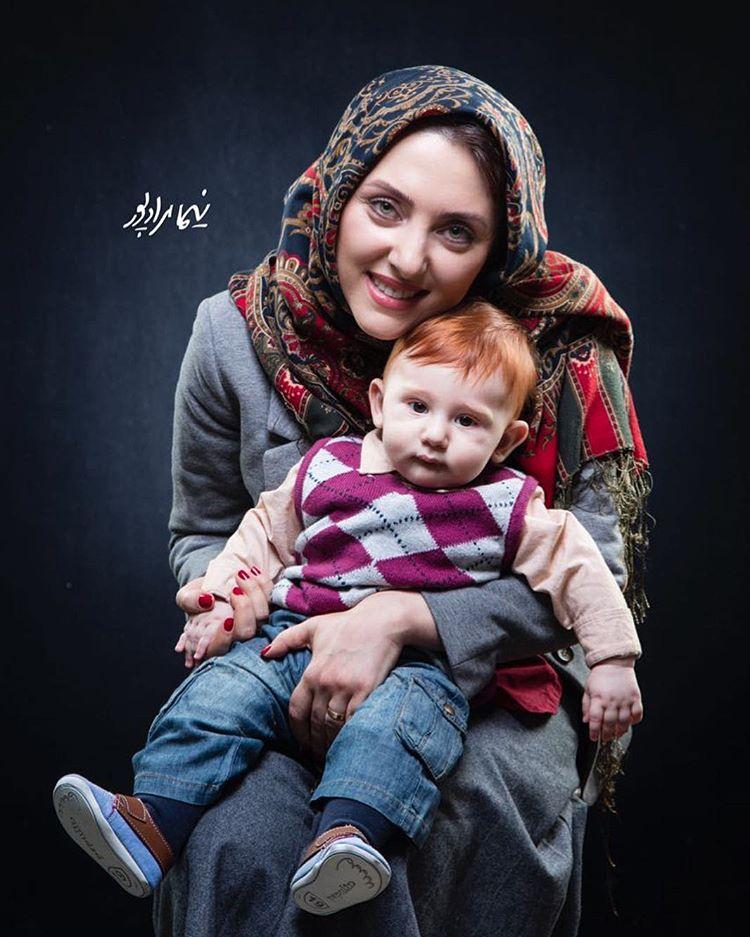 عکس زیبای مهسا کرامتی با فرزندش