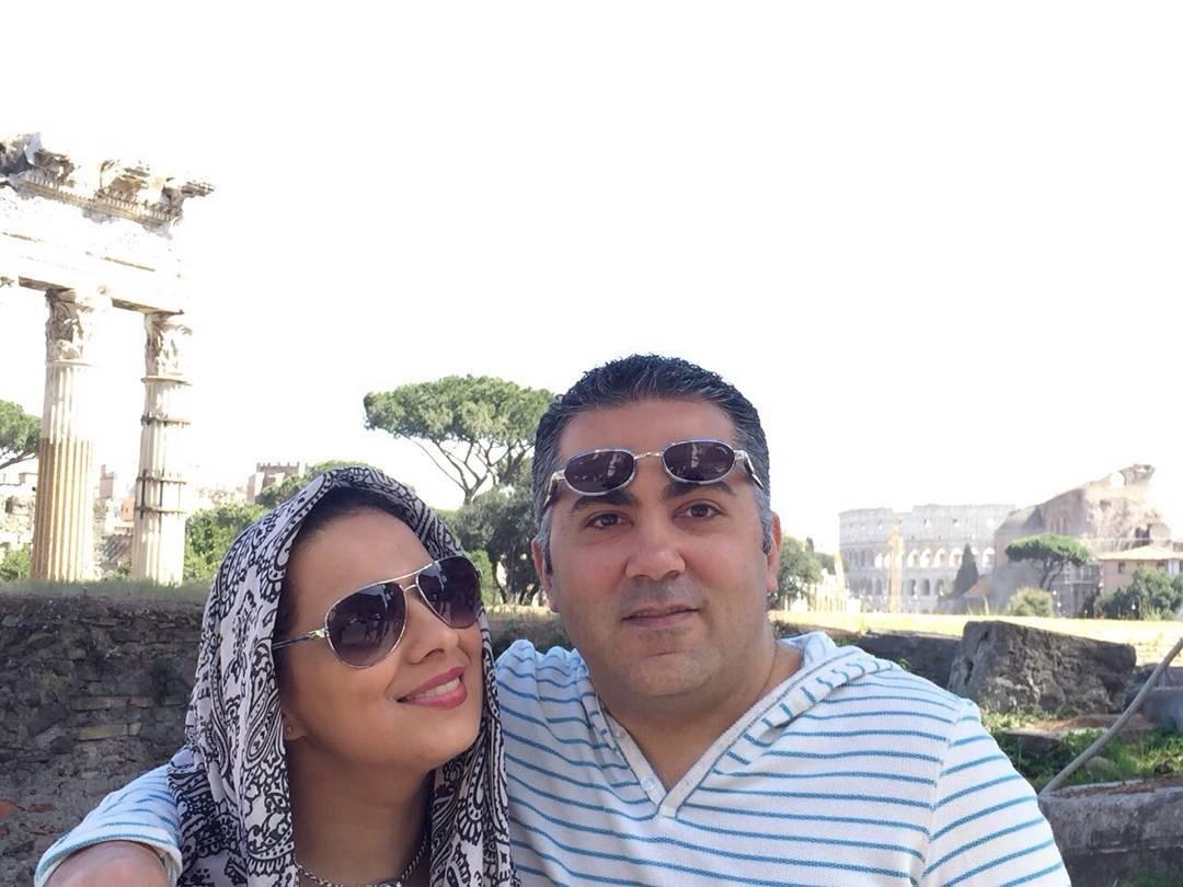 عکس شخصی روشنک عجمیان با همسرش