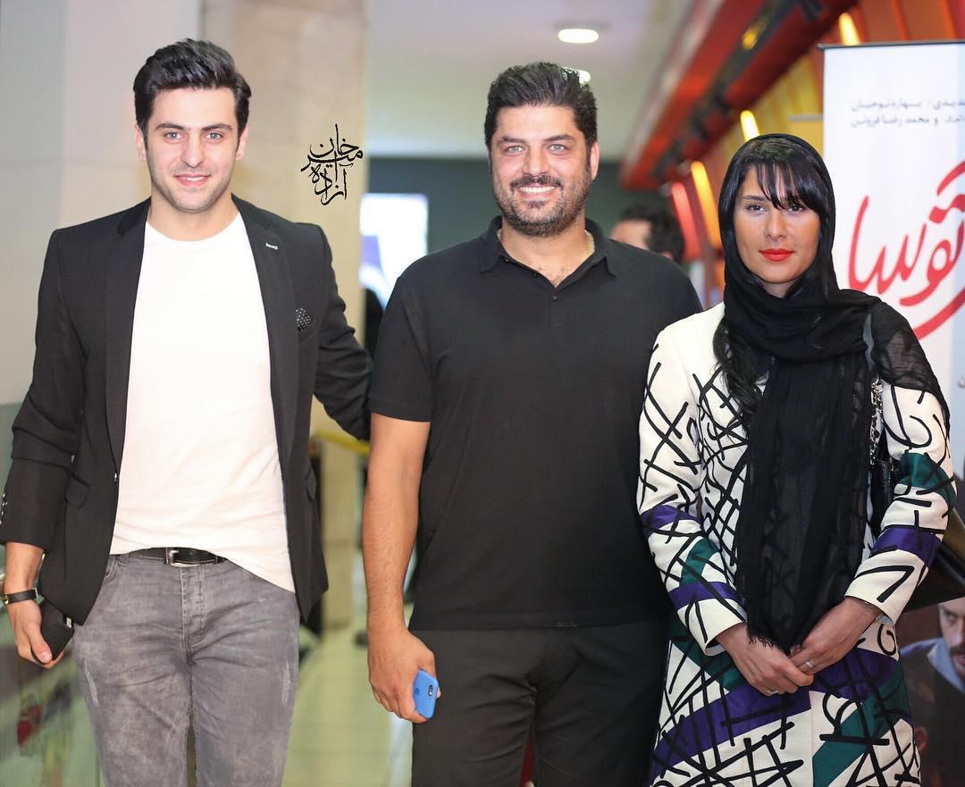 سام درخشانی و همسرش و علی ضیاء