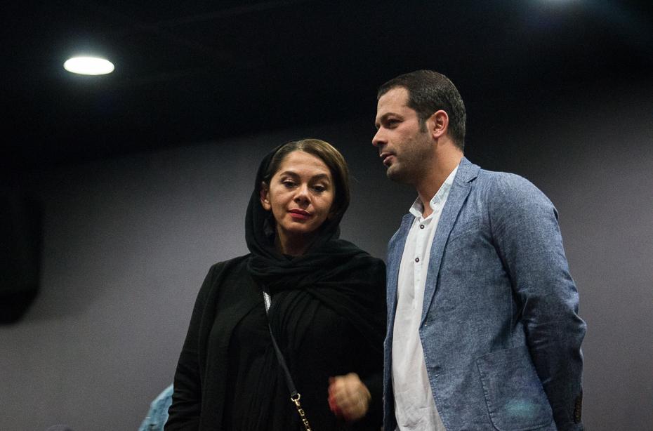 پژمان بازغی و همسرش در اکران فیلم خنده های آتوسا