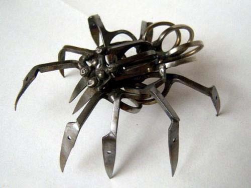 هنرنمایی دیدنی از ساخت عنکبوت با قیچی + عکس , جالب و خواندنی