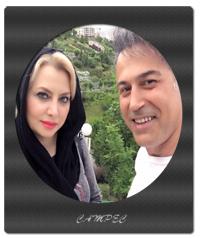 عکسهای دانیال حکیمی با همسرش