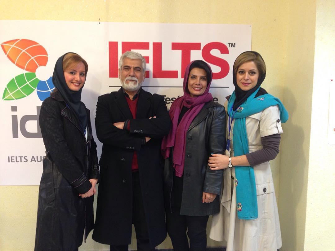 عاطفه رضوی و همسرش حسین پاکدل و دخترش