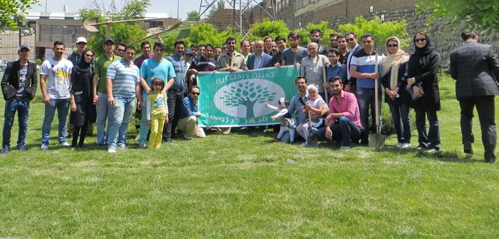 کمپین درختکاری در تبریز