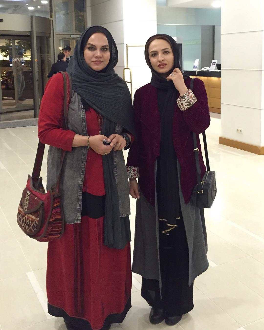 گلاره عباسی و نرگس آبیار در باکو آذربایجان