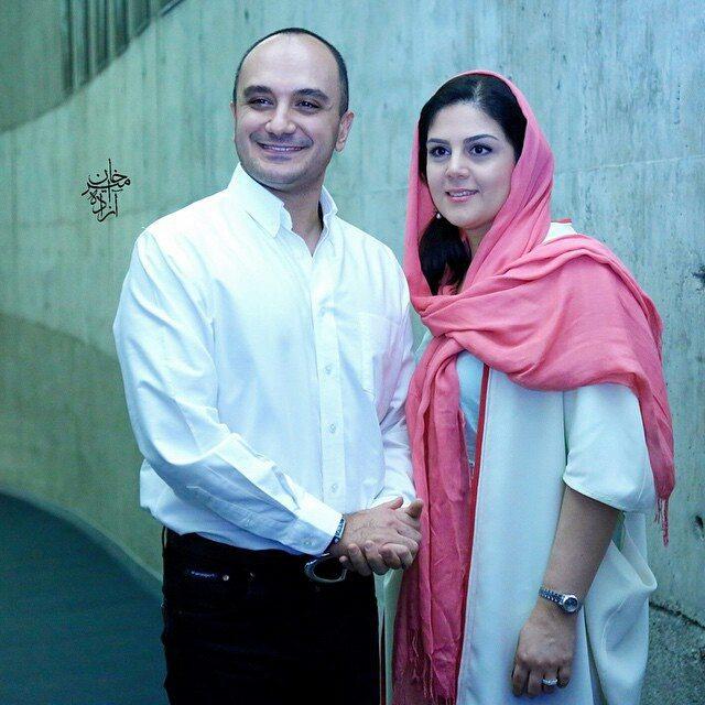 عکس احسان کرمی با همسرش