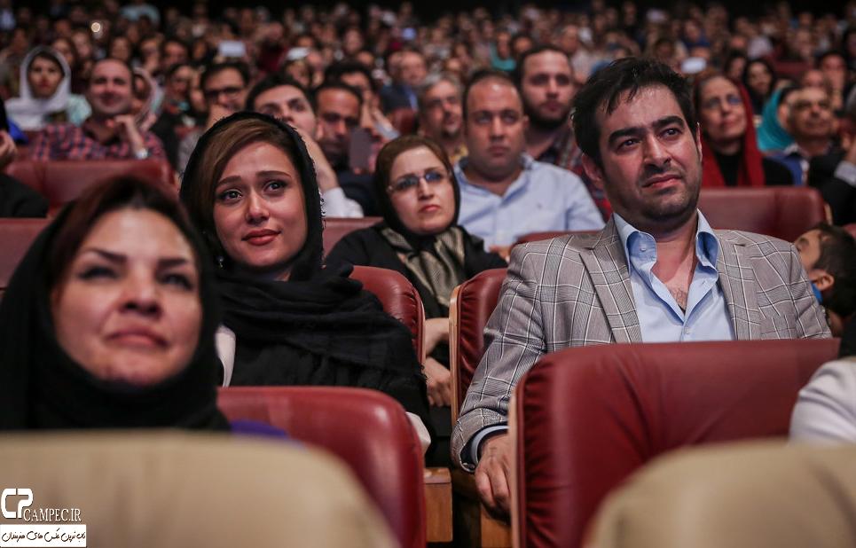 شهاب حسینی و پریناز ایزدیار در جشن پایان سریال شهرزاد