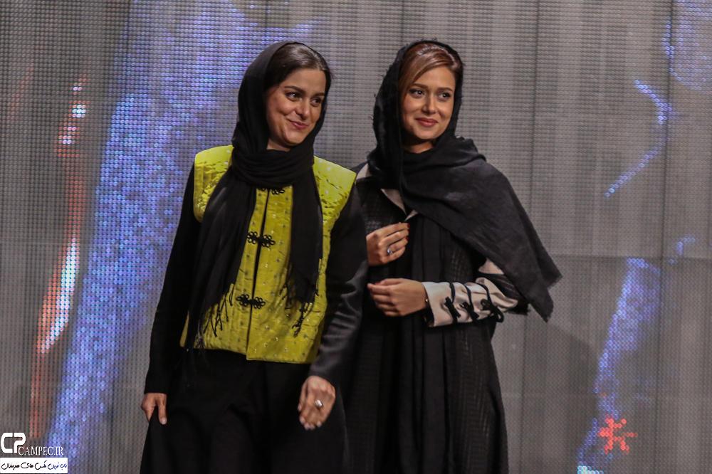 پریناز ایزدیار و غزل شاکری در جشن پایان سریال شهرزاد