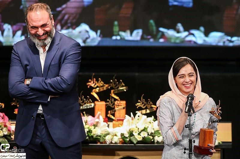 ترانه علیدوستی و حمید فرخ نژاد در جشن پایان سریال شهرزاد