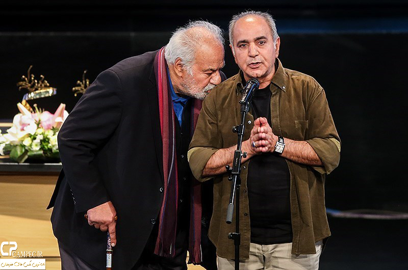 پرویز پرستویی و ناصر ملک مطیعی در جشن پایان سریال شهرزاد
