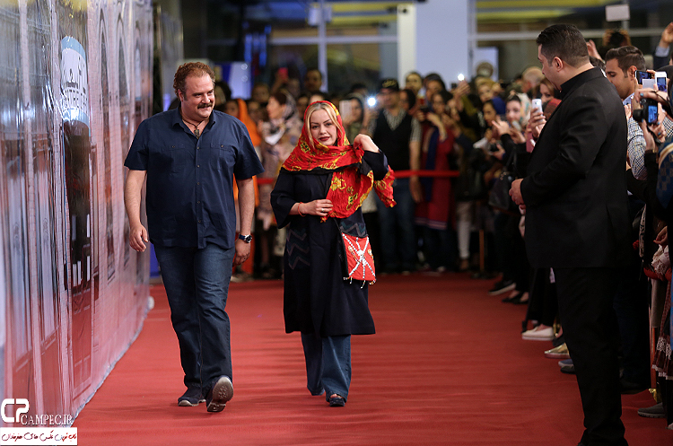 هومن برق نورد و همسرش در جشن پایان سریال شهرزاد