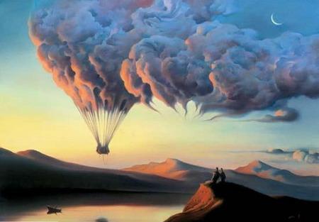 عکس زیبا از هنر نمایی نقاش