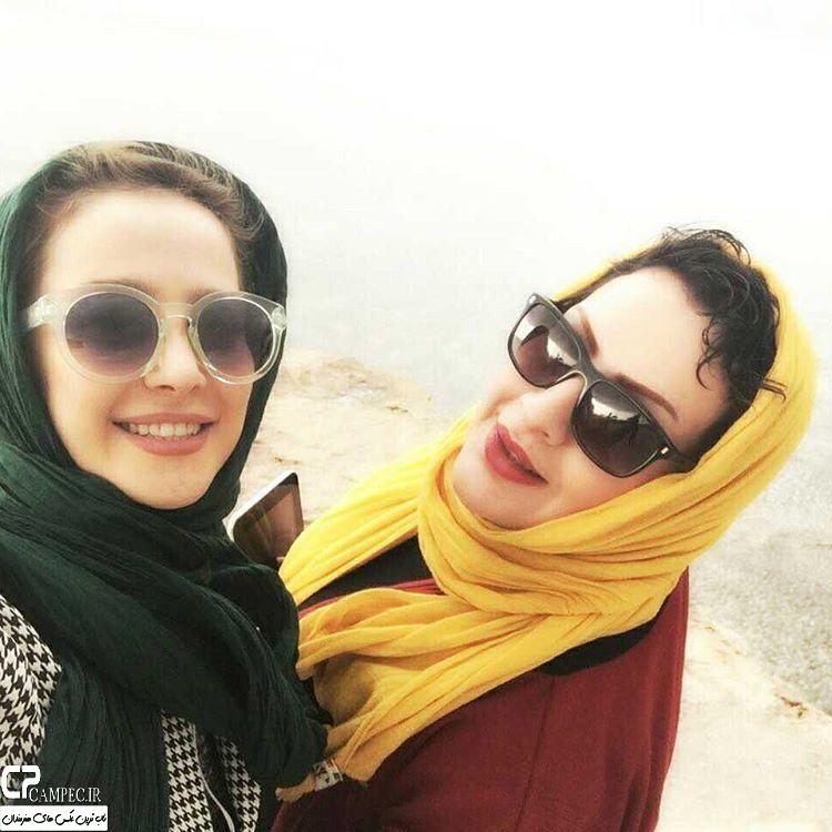 عکس شخصی الناز حبیبی با دوستش
