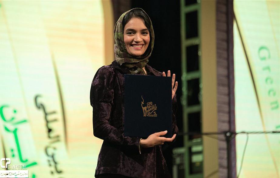 میترا حجار در اختتامیه جشنواره فیلم سبز