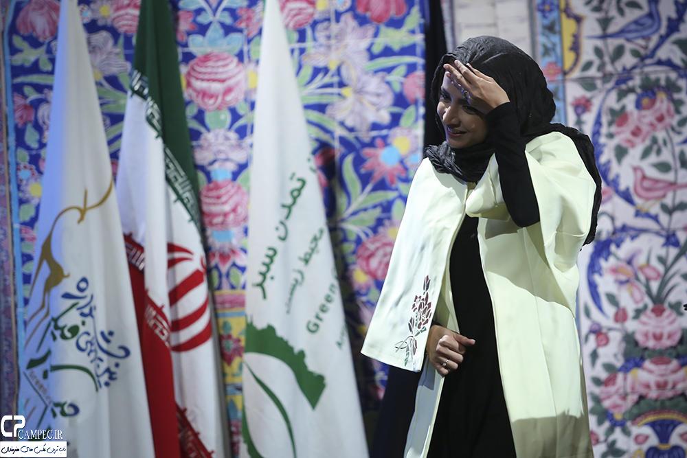 شبنم قلی خانی در اختتامیه جشنواره فیلم سبز
