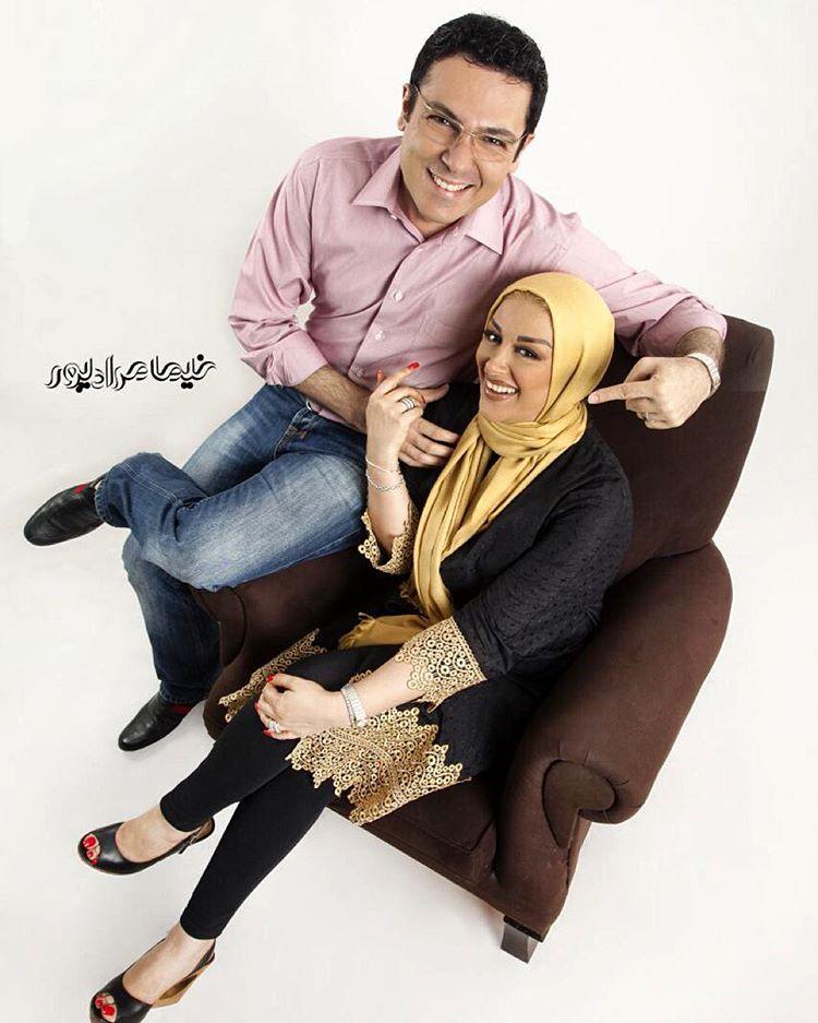 عکس شخصی کورش تهامی با همسرش
