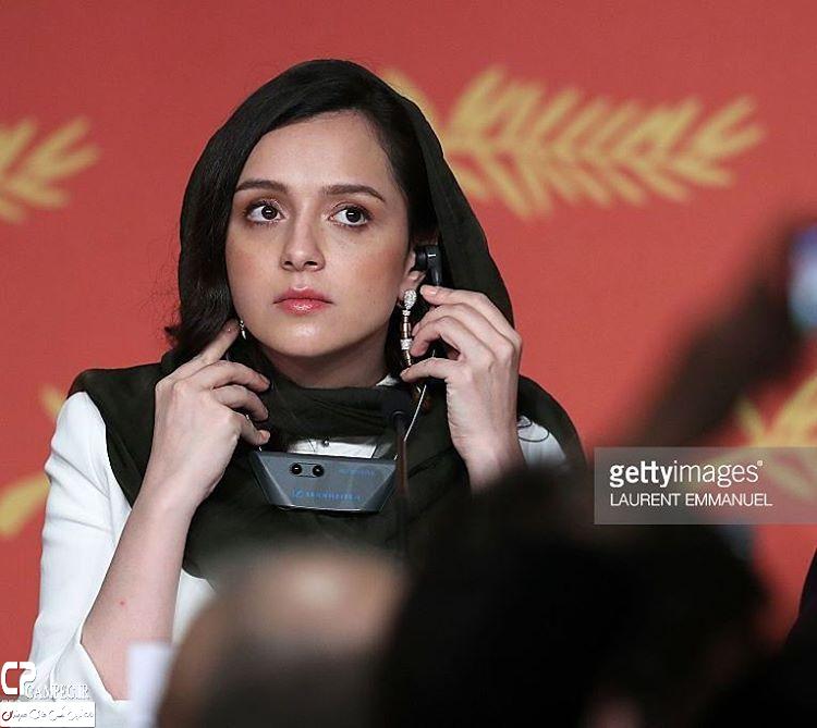 ترانه علیدوستی در نشست خبری فیلم فروشنده در جشنواره کن