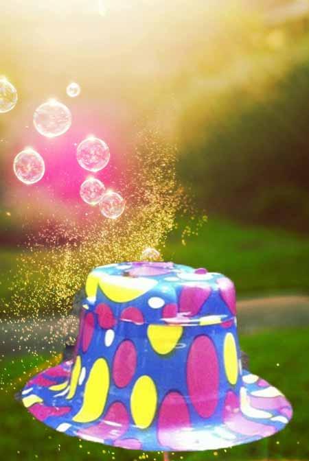 کلاه جشن و تولد حباب ساز جادویی