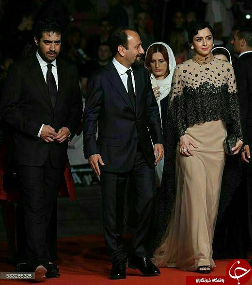 ترانه علیدوستی و شهاب حسینی روی فرش قرمز کن+ فیلم و عکس
