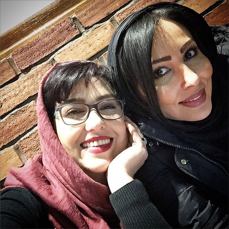 عکس شخصی معصومه کریمی با پرستو صالحی