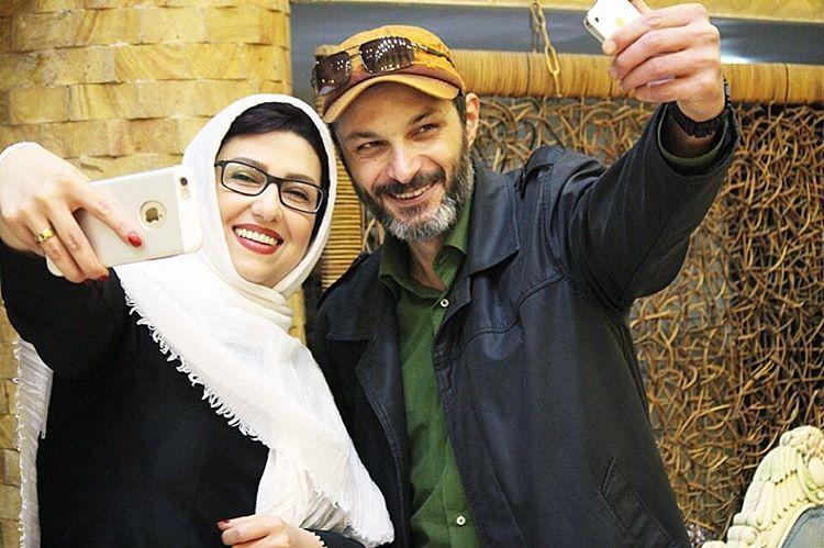 سلفی معصومه کریمی با رامین پرچمی