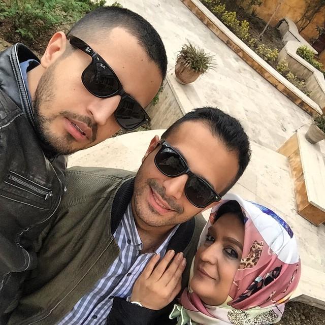 عکس مهرداد صدیقیان با خانواده اش