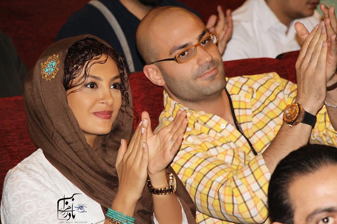 حدیثه تهرانی با همسرش کیان مقدم