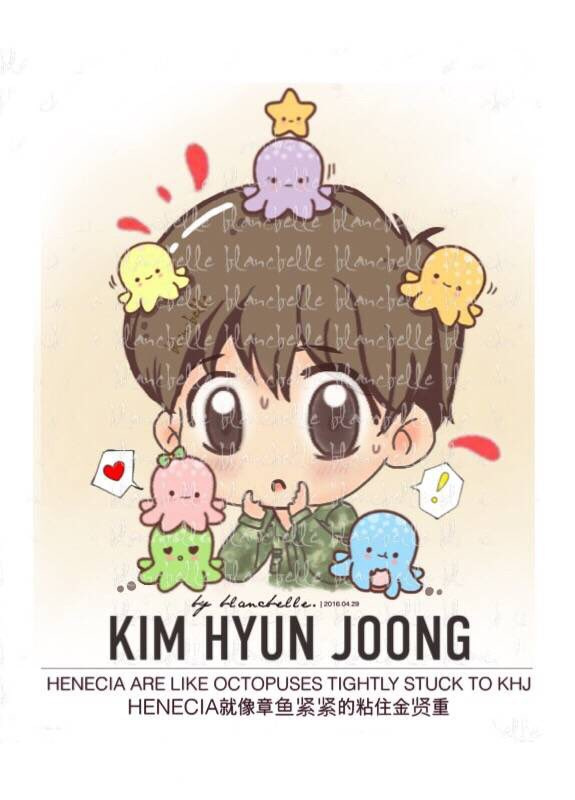 [blancbelle Fanart] Kim Hyun Joong - Henecia are like octopuses tightly stuck to KHJ [2016.04.29]