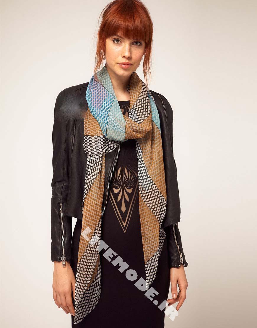 شال گردن زنانه پارچه ای مدرن