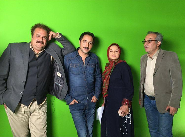 امیر حسین رستمی در پشت صحنه سریال دودکش