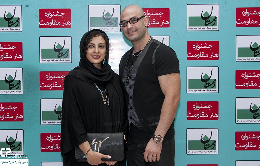 حدیثه تهرانی و همسرش در کنسرت گروه کردی